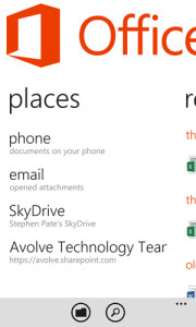 Office 365 documents are synchronized on Windows Phone 8 devices