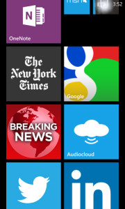 Windows Phone 8 app tiles – 3 sizes different colors make it easy to find the app you want