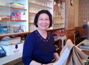 Helen Tran, the Canton Cafe, a wide smile and she remembers your voice (S. Pate photo)