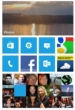 Nokia Lumia 920 home screen (S. Pate photo)