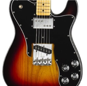Fender American Vintage '72 Telecaster® Custom Electric Guitar, 3 Tone Sunburst, Maple Fretboard