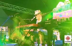Dr. John at the TD Halifax Jazz Fest, CBC got close (CBC Photo)