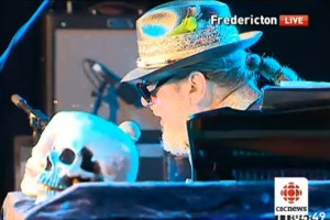 Dr. John at the TD Halifax Jazz Fest (photo CBC but not Fredericton)