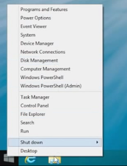 Start Menu in Windows 8.1 Desktop