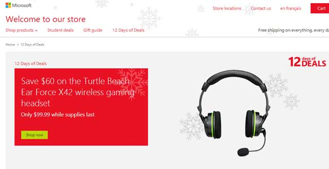 Turtle Beach Ear Force X42 wireless gaming headset - only in Canada eh?